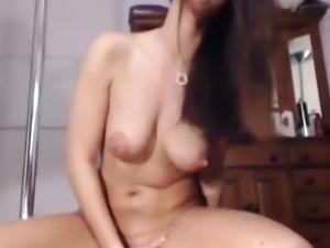 Busty Babe Masturbating and Squirting