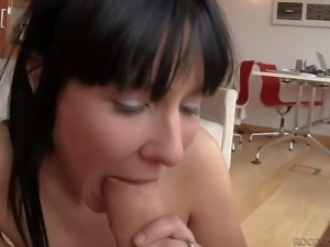 Jassy is a black haired cutie that loves oral action so much. Black and white...