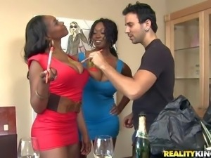 Baby Cakes and Delotta are juicy black women with gigantic