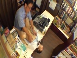 teacher and student's hidden library affair