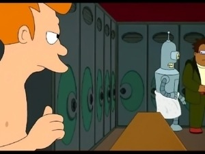 fry gets a double blowjob