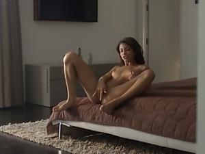 Wet orgasm of exotic babe fingering