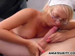 A very hot and skinny blonde amateur girlfriend homemade hardcore action with...