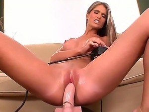 Nessa Devil loves her sex machine so much! She makes it wet with her mouth...
