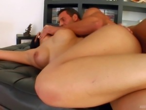 PornSharing.com nude tube : Black haired tempting milf with heavy make up and...