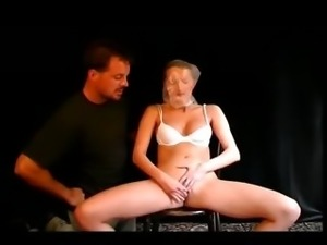 Naughty slave girl fingers herself