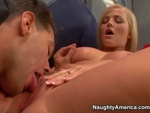 Hot and arousing golden haired pornstar Alexis Texas enjoys in getting her...