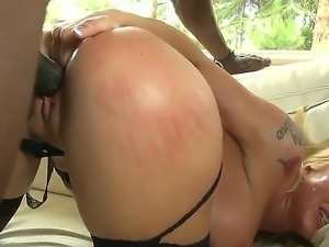 Husband watches as her blonde wifes wet tight pussy is pounded by a hard...