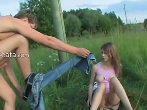 Brutal teenagers anus outdoor sex