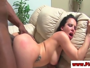 Katie St Ives getting interracial pussy pounding before sucking