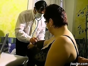 Sexy doctor has inspected and examined