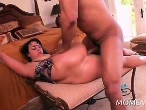 Interracial threesome with anal sex and BJs and huge dicks