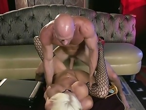 Pleasure-Before-Business getting fucked on the couch