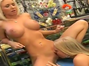 Smoking hot blonde bombshell Molly Cavalli with sexy tattoo on lower back and...