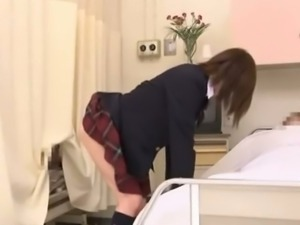 Naughty schoolgirl fucked on the hospital bed