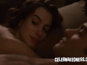 Celeb anne hathaway big bare breasts exposed and having sex in love and other...