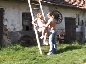 Farm cutie Olivia gets fucked and facialized
