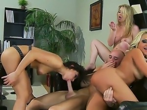 Today Johnny Sins has fun with Ann Marie Rios, Briana Blair and Sunny Lane at...