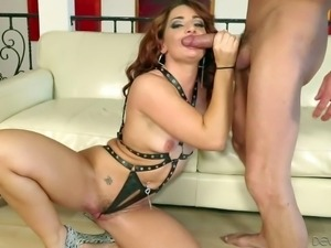 Savannah Fox is one sexy dressed lovely babe with small boobs and dripping...