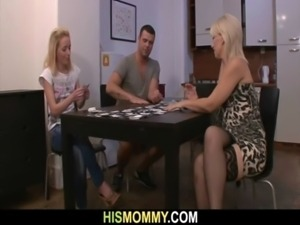 Strip poker leads to pussy toying free