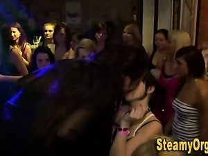 Teen sluts facialized at party