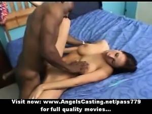 Hot latina slut doing handjob and fucked hard with cumshot in mouth