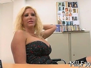 Hot milf showing her skills