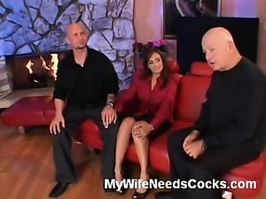 Is there a hotter wife around than Claudia Valentine? She and her husband are...