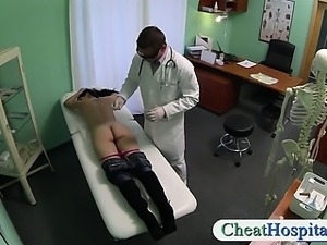 Brunette patient nailed by a fake doctor