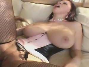 Hardcore interracial scene with large titted slut Gianna Michaels