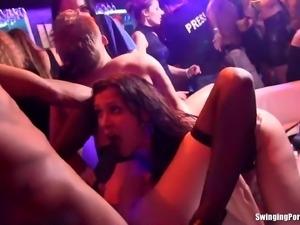 Club slags fucking hard