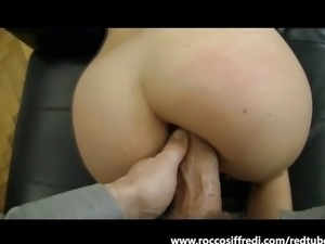 Sexy French chick gets it in the butt
