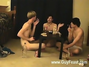 Gay orgy Trace and William get together with their new mate Austin