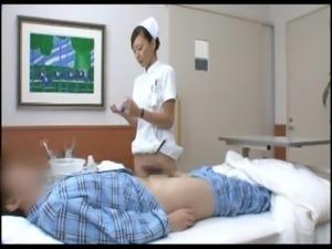 Asian cutie nurse sexual desire processing. nurse exhausted with big cock...