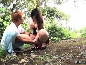 Busty asian slut gets horny part1