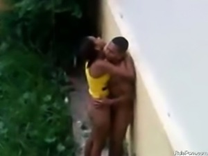 Brazilian Teen Fucking Outside On The Rain