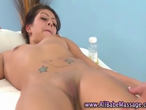 Hot lesbo masseuse kisses