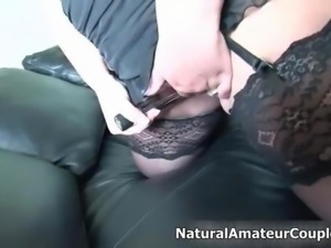 Awesome chubby milf with huge tits gets steamrolled