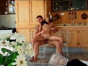 Gorgeous brunette latina gets her cunt blasted