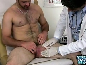 Hot jock gets molested by the college doctor.