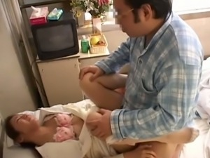 Nasty asian nurse nailed by patient