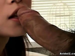 Yurika Goto as blowjob loving schoolgirl doing what she