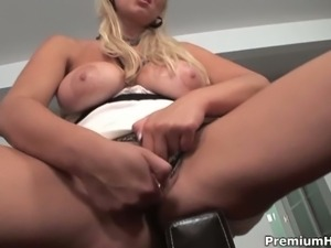 Busty milf abbey brooks is ready to play alone