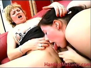 Mature couple fucks with bi girl