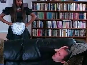 Sexy Ebony Maid Interracial. --X--