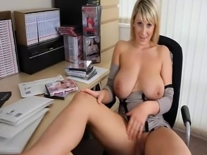 look at my huge tits and wank that dick