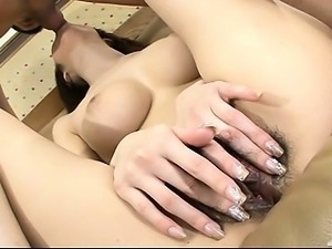 Big titty Huuka Takanashi and her furry muff are pounded hard