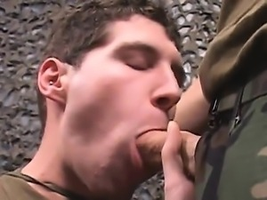 mouthy soldier Ryley Nyce sucking off and getting fucked by