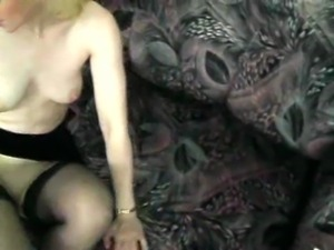 Big boy fucks blond lady at home