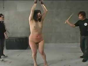 Fat newbie tied and spanked